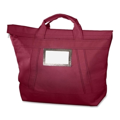 "MMF Fire-Block Tote - 18"" Width x 18"" Length - 7"" Gusset - Burgundy - Cordura Plus - 1Each - Mailing"