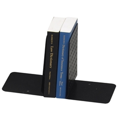 "MMF Euro Style Bookends - 8"" Height x 5.9"" Width x 5.3"" Depth - Desktop - Recycled - Black - Steel - 2 / Pair"