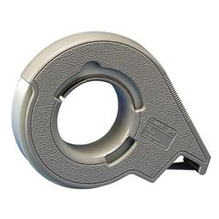 """Scotch H12 Filament Tape Dispenser - Holds Total 1 Tape(s) - 3"""" Core - Refillable - Gray"""