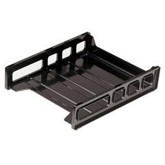 """Front Loading Letter Tray - 12.5"""" Height x 10.5"""" Width x 2.9"""" Depth - Desktop - Smoke - 1Each"""
