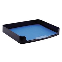 """2200 Series Side Loading Tray - 10.3"""" Height x 15.9"""" Width x 2"""" Depth - Desktop - Black - Plastic - 1Each"""