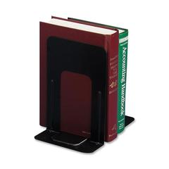 "OIC Bookend - 9"" Height x 5.9"" Width x 8.2"" Depth - Desktop - Black - Steel - 2 / Pair"