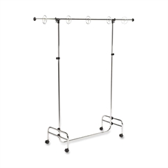 """Pacon Display Stand - 78"""" Height x 77"""" Width - Silver"""
