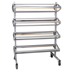 Pacon Horizontal Paper Rack - 8 Roll(s) - 1 Each - Gray