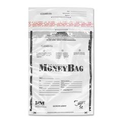 "PM Disposable Deposit Money Bags - 12"" Width x 16"" Length - Clear - Plastic - 100/Pack - Deposit"