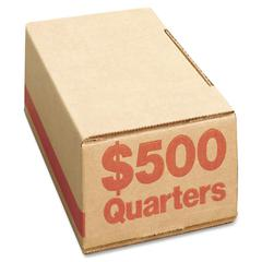 PM SecurIT $500 Coin Box (Quarters) - Cardboard - Orange - For Coin - 1200 / Carton