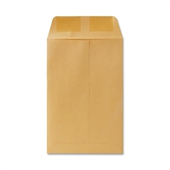 "Quality Park Catalog Envelopes - Catalog - #1 - 6"" Width x 9"" Length - 20 lb - Gummed - Kraft - 500 / Box - Brown"