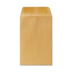 """Catalog Envelopes - Catalog - #1 - 6"""" Width x 9"""" Length - 20 lb - Gummed - Kraft - 500 / Box - Brown"""