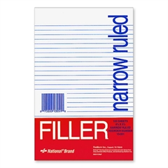 "Rediform National Standard Filler Paper - 100 Sheets - Printed - Stapled/Glued - 5.50"" x 8.50"" - White Paper - 100 / Pack"