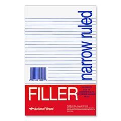 "Rediform Standard Ruled Filler Paper - 100 Sheets - Printed - Stapled/Glued - 5.50"" x 8.50"" - White Paper - 100 / Pack"