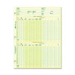"National Payroll Filler Sheet - 10.87"" x 8.50"" Sheet Size - Green Sheet(s) - Recycled - 100 / Pack"