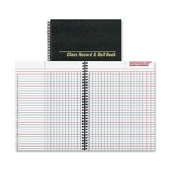 "Rediform Class Record & Roll Book - 40 Sheet(s) - Wire Bound - 11"" x 8.50"" Sheet Size - White Sheet(s) - Black Cover - Recycled - 1 Each"