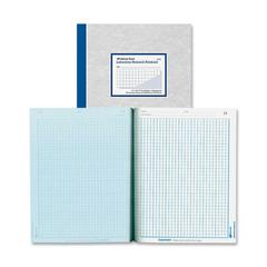 "Rediform National Laboratory Research Notebook - 200 Sheets - Printed - Sewn - Both Side Ruling Surface - Letter 8.50"" x 11"" - Blue Paper - Gray Cover - Pressboard Cover - 1Each"