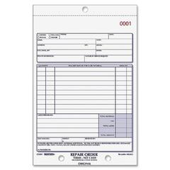 "Rediform 3-pt Carbonless Repair Order Book - 50 Sheet(s) - 3 Part - Carbonless Copy - 7.87"" x 5.50"" Sheet Size - Assorted Sheet(s) - 1 Each"