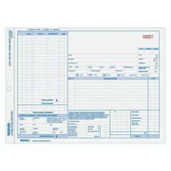 "Rediform Auto Repair Order Form - 3 Part - Carbonless Copy - 8.50"" x 11"" Sheet Size - Assorted Sheet(s) - Blue Print Color - 50 / Pack"