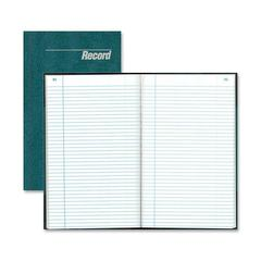 "Rediform Granite Series Record Books - 150 Sheet(s) - Gummed - 12.25"" x 7.25"" Sheet Size - White Sheet(s) - Blue Print Color - Blue Cover - Recycled - 1 Each"