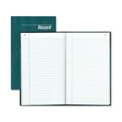 "Rediform Granite Park Record Book - 300 Sheet(s) - Gummed - 12.25"" x 7.25"" Sheet Size - White Sheet(s) - Blue Print Color - Blue Cover - Recycled - 1 Each"