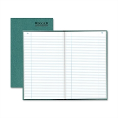 "Rediform Emerald Series Account Book - 500 Sheet(s) - Gummed - 12.25"" x 7.25"" Sheet Size - White Sheet(s) - Green Print Color - Green Cover - Recycled - 1 Each"