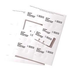 Rolodex Laser/Inkjet Rotary File Card - 240 Address Card - White