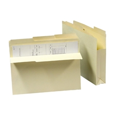 """SJ Paper Reinforced Top 1/3 Cut File Jacket - Letter - 8.50"""" x 11"""" Sheet Size - 2"""" Expansion - 1/3 Tab Cut - Manila - Recycled - 50 / Carton"""