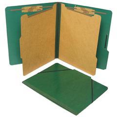 "SJ Paper Classification Folio - 2"" Folder Capacity - Letter - 8 1/2"" x 11"" Sheet Size - 2 1/4"" Expansion - 4 Fastener(s) - 2"" Fastener Capacity - 2 Divider(s) - 25 pt. Folder Thickness - Pressboard -"