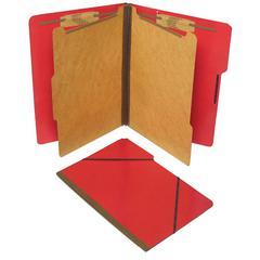 "SJ Paper Classification Folio - 2"" Folder Capacity - Legal - 8 1/2"" x 14"" Sheet Size - 2 1/4"" Expansion - 4 Fastener(s) - 2"" Fastener Capacity - 2 Divider(s) - 25 pt. Folder Thickness - Pressboard - E"