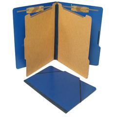 "SJ Paper Classification Folio - 2"" Folder Capacity - Legal - 8 1/2"" x 14"" Sheet Size - 2 1/4"" Expansion - 4 Fastener(s) - 2"" Fastener Capacity - 2 Divider(s) - 25 pt. Folder Thickness - Pressboard - P"