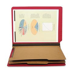 "Six Section Classification Folder - Letter - 8 1/2"" x 11"" Sheet Size - 2 1/4"" Expansion - Ring Fastener - 2"" Fastener Capacity for Folder - 2 Divider(s) - 25 pt. Folder Thickness - Pressboard"