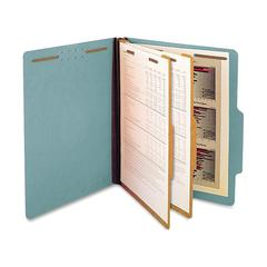 "SJ Paper 2-Divider Classification Folders - Letter - 8 1/2"" x 11"" Sheet Size - 2 1/4"" Expansion - 6 Fastener(s) - 2"" Fastener Capacity for Folder - 2 Divider(s) - 25 pt. Folder Thickness - Pressboard"