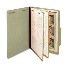 "SJ Paper 2-Divider Classification Folders - Legal - 8 1/2"" x 14"" Sheet Size - 2 1/4"" Expansion - 6 Fastener(s) - 2"" Fastener Capacity for Folder - 2 Divider(s) - 25 pt. Folder Thickness - Pressboard -"