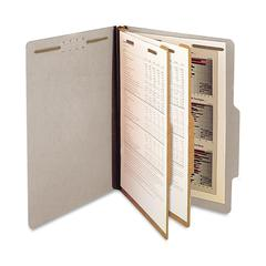 "SJ Paper 2-Divider Classification Folders - Legal - 8 1/2"" x 14"" Sheet Size - 2 1/4"" Expansion - 6 Fastener(s) - 2"" Fastener Capacity for Folder - 2 Divider(s) - 25 pt. Folder Thickness - Pressboard -"