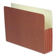 "Expanding File Pocket - Legal - 8 1/2"" x 14"" Sheet Size - 3 1/2"" Expansion - 11 pt. Folder Thickness - Redrope, Manila - Recycled - 50 / Box"