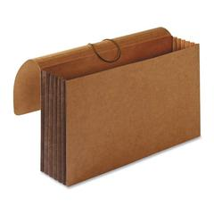 "Sparco Tyvek Accordion Wallet - Legal - 8 1/2"" x 14"" Sheet Size - 5 1/4"" Expansion - Brown - Recycled - 1 Each"
