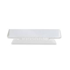 "Sparco Plastic Clear Tabs - Blank Tab(s)3.50"" Tab Width - Clear Plastic Tab(s) - 25 / Pack"