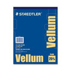 "Staedtler Vellum Paper Pad - Letter - 8 1/2"" x 11"" - 16 lb Basis Weight - Smooth - 50 / Pad - White"
