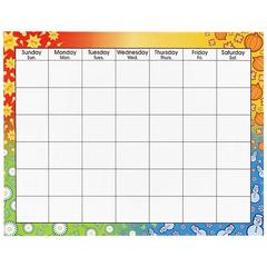 "Trend Large Wipe-Off Blank Calendar Chart - Multipurpose - 22"" x 28"" - 1 Each"