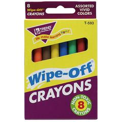 Wipe-Off Crayons - Assorted - 1 Each