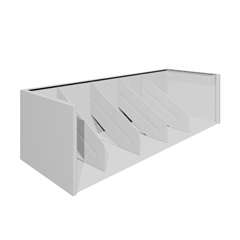 "Tennsco A36 Series Modular 4 Fixed Dividers - 36"" x 16.2"" x 10"" - Stackable - Light Gray - Steel - Recycled - Assembly Required"