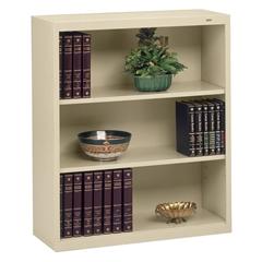 "Tennsco Welded Bookcase - 34.5"" x 13.5"" x 40"" - 3 x Shelf(ves) - 360 lb Load Capacity - Sand - Steel - Recycled"