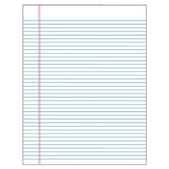 """TOPS Glue Top Wide Ruled Legal Pad - 50 Sheets - Printed - Glue - Wide Ruled - Letter 8.50"""" x 11"""" - White Paper - 1Dozen"""