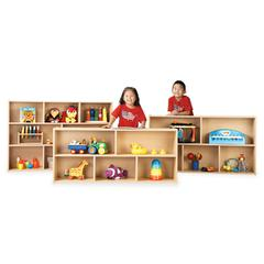 "young Time Young Time 3-shelf Storage Unit - 3 Compartment(s) - 32.5"" Height x 48"" Width x 12"" Depth - Baltic - 1Each"