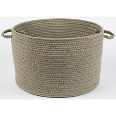 "Rhody Rug WearEver Moss Green Poly 18"" x 12"" Basket"