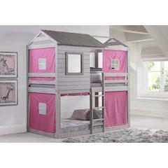 Deer Blind Bunk Loft W/Pink Tent