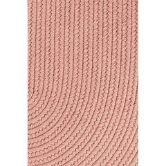 """Rhody Rug Solid Old Rose Wool 18"""" x 36"""" Slice"""
