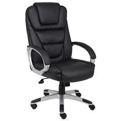 "Boss ""Ntr"" Executive LeatherPlus Chair W/ Knee Tilt"