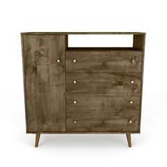 "Liberty 4-Drawer 42.32"" Sideboard in Rustic Brown"