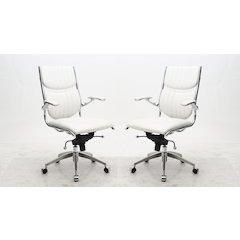 Ergonomic High Back Verdi Office Chair in White
