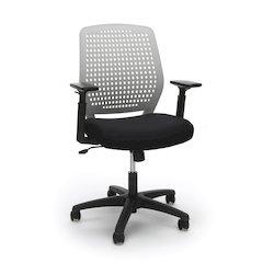Plastic Back Ergonomic Task Chair, Gray