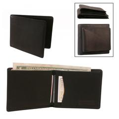 Japanese Drum Dyed Leather, Slim Mini Tuxedo Extra Soft Touch Wallet in Black
