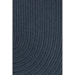 "Rhody Rug WearEver Navy Poly 18"" x 36"" Slice"
